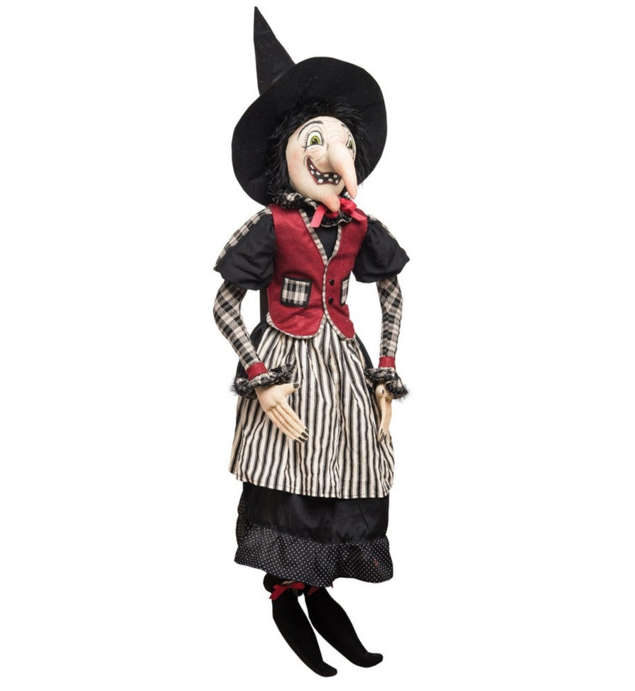 Joe Spencer Imogene Witch, Cloth Halloween Doll