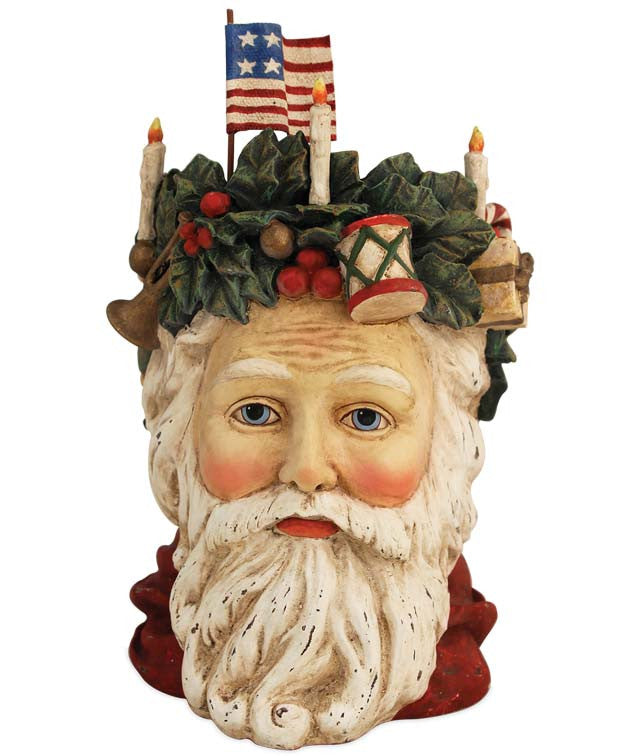 Father Christmas Head Container