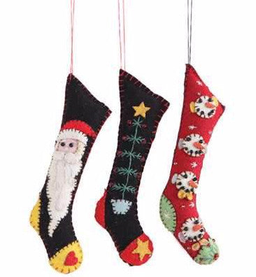 Felt Christmas Stocking Ornaments
