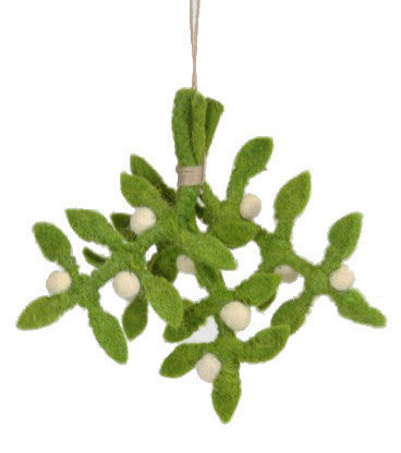 Felted Mistletoe Ornament