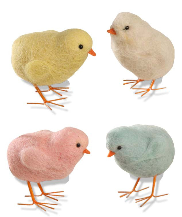 Felted Wool Chicks