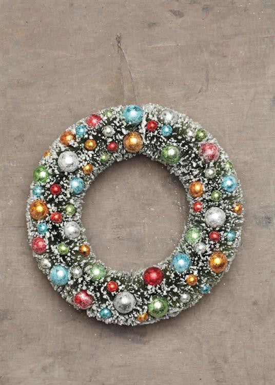 Festive Bottle Brush Christmas Wreath