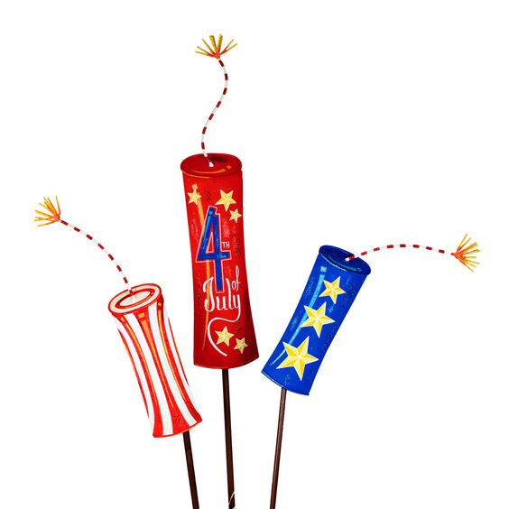 Large Firecraker Yard Stakes for the 4th of July