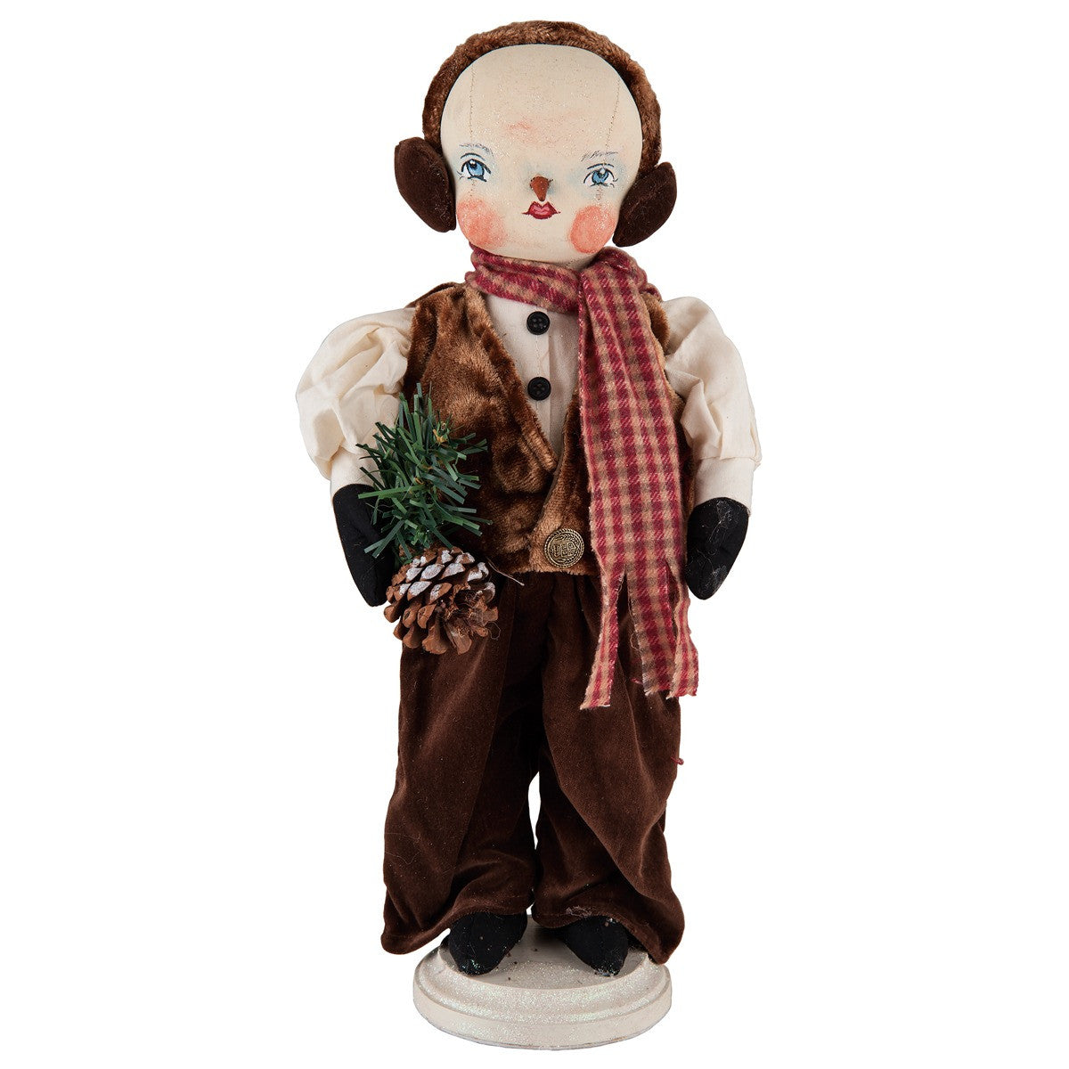 Forrest Standing Snowman - Joe Spencer Cloth Christmas Dolls