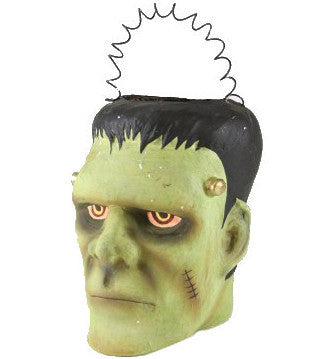 Frankenstein Monster Paper Mache Bucket