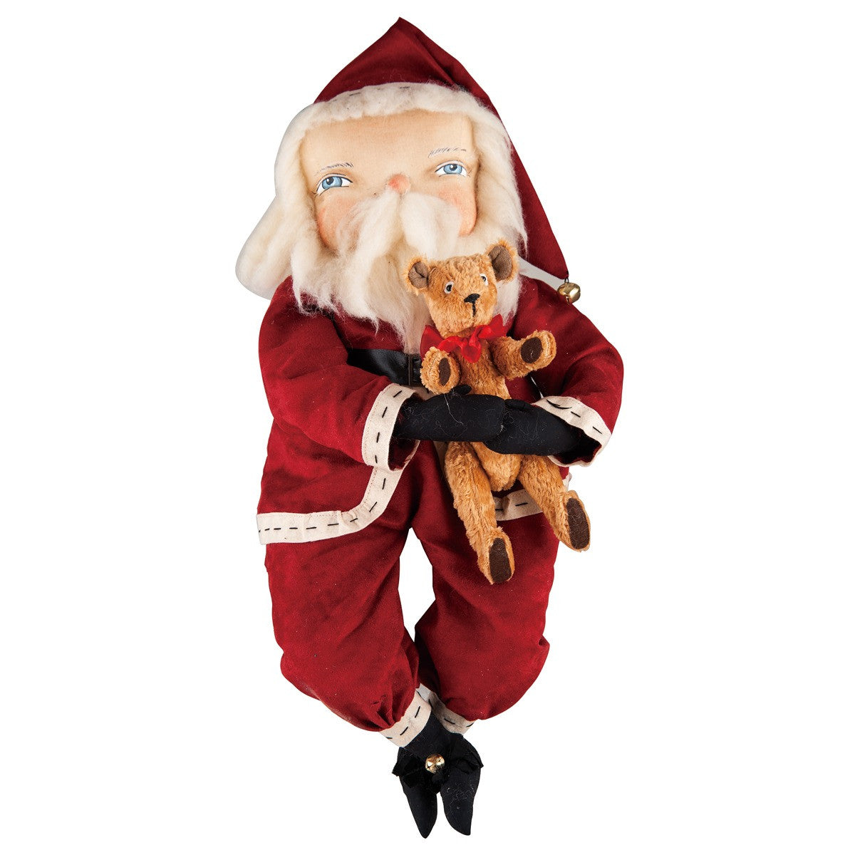 Freddy Santa with Teddy Bear - Joe Spencer Christmas Doll
