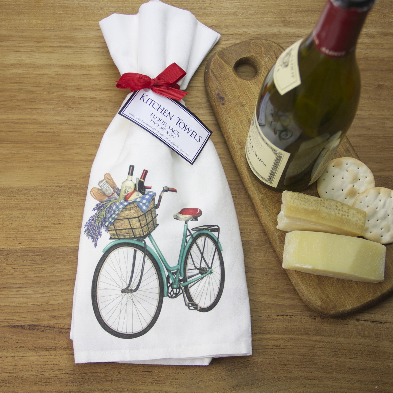 French Market Bicycle Flour Sack Towels