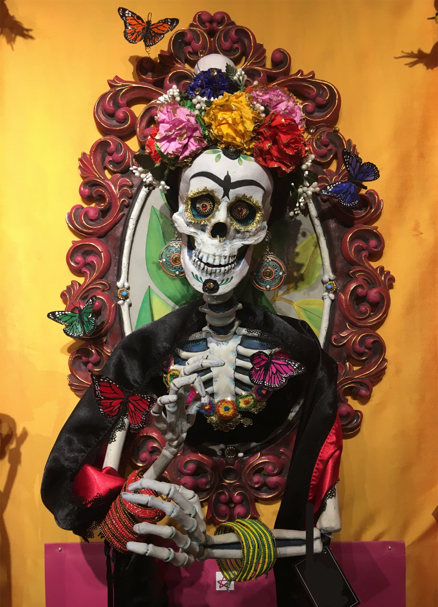 Katherine's Collection Frida Skull Portrait - Día de Muertos