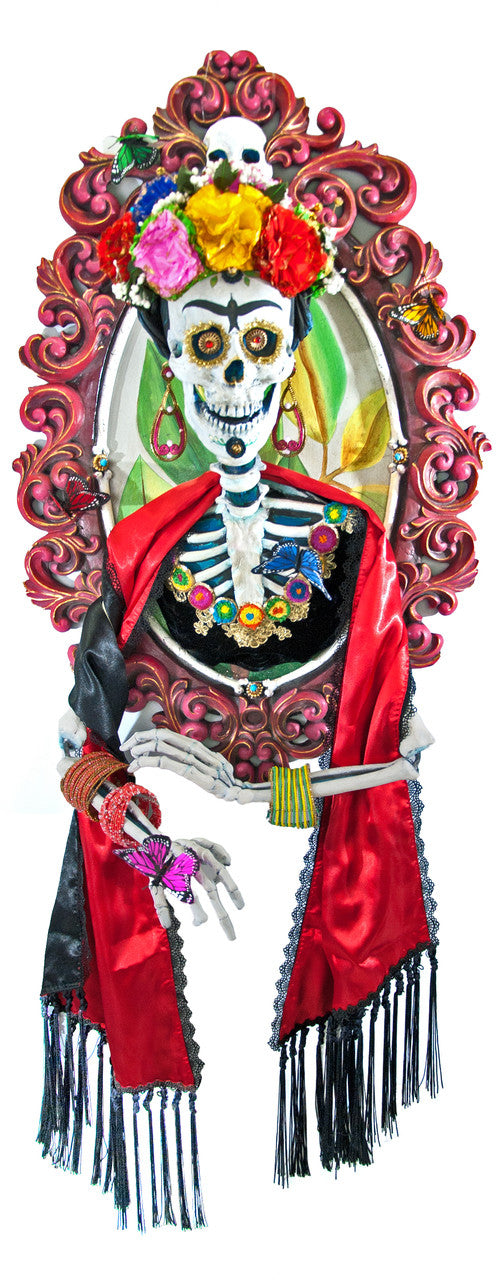 Day of the Dead Frida Skull Portrait