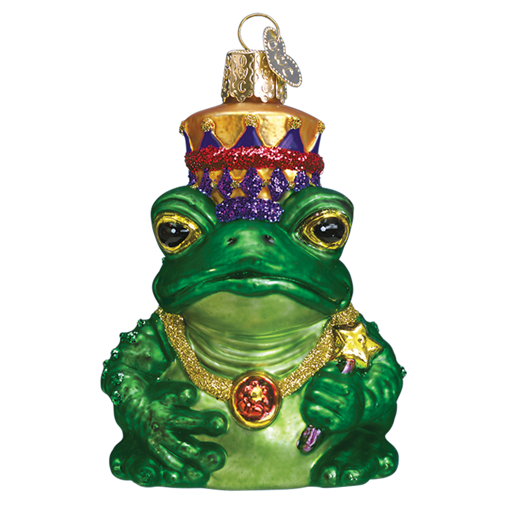 The Frog Prince Glass Ornament - Old World Christmas Ornaments