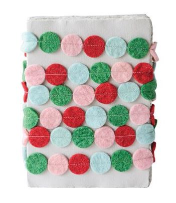 Fun Felt Circle Garland with Red, Pink, Blue and Green Circles