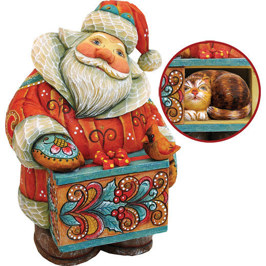 G. Debrekht Santa with Cat - Secret Box