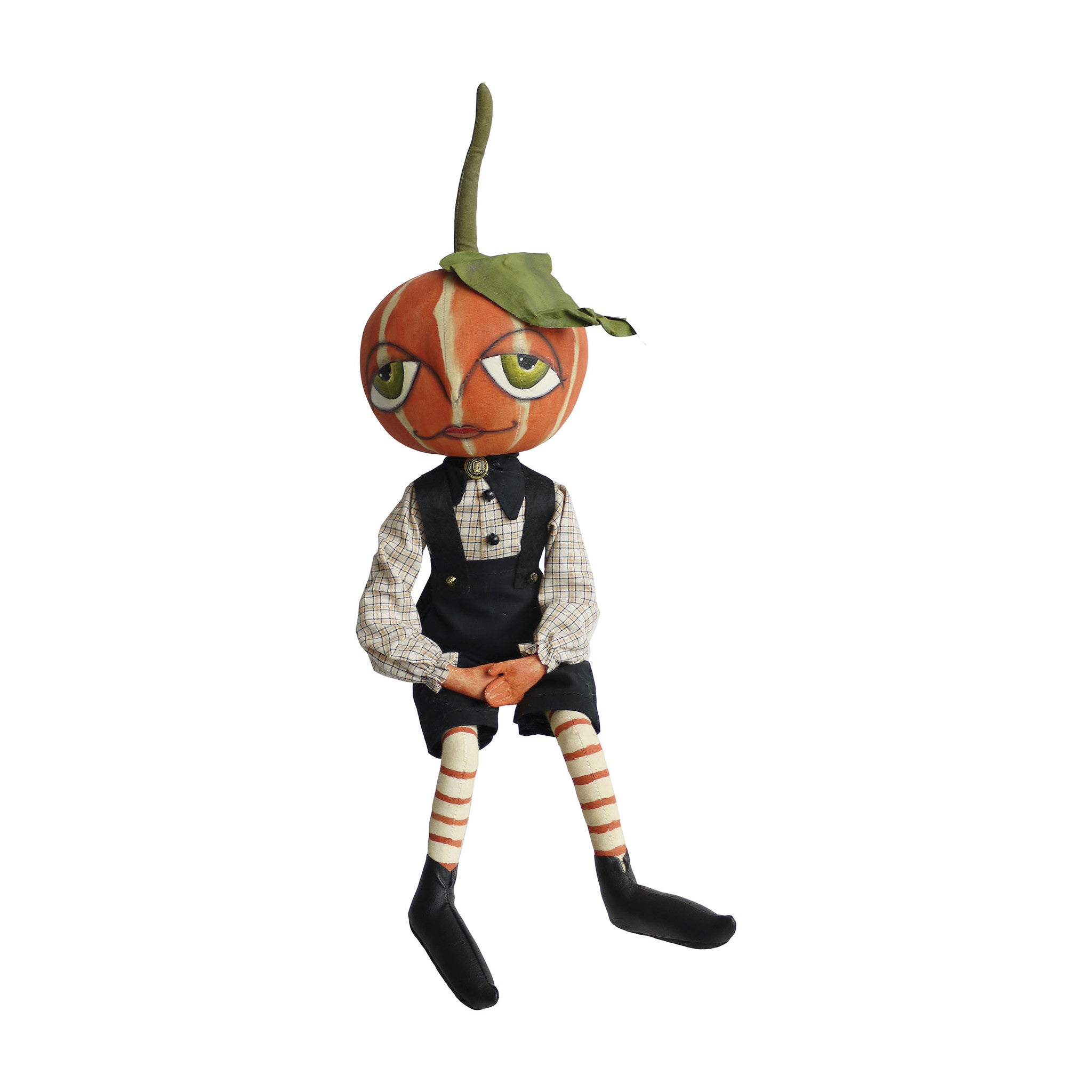 Garfunkel Pumpkin Boy - Joe Spencer Halloween Pumpkin Head Doll