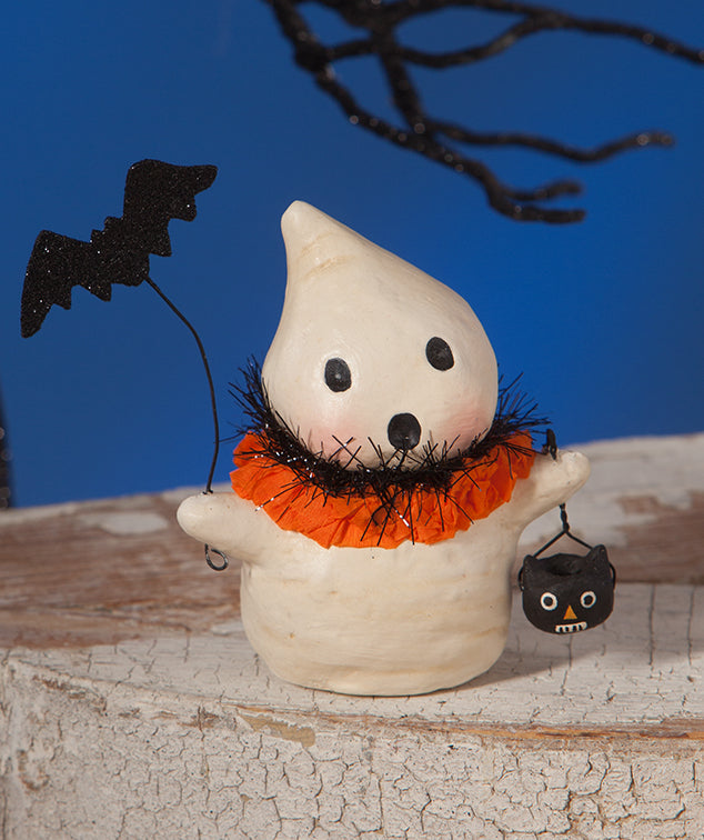 Bethany Lowe Ghostie with Bat - Ghost Figurine 2018