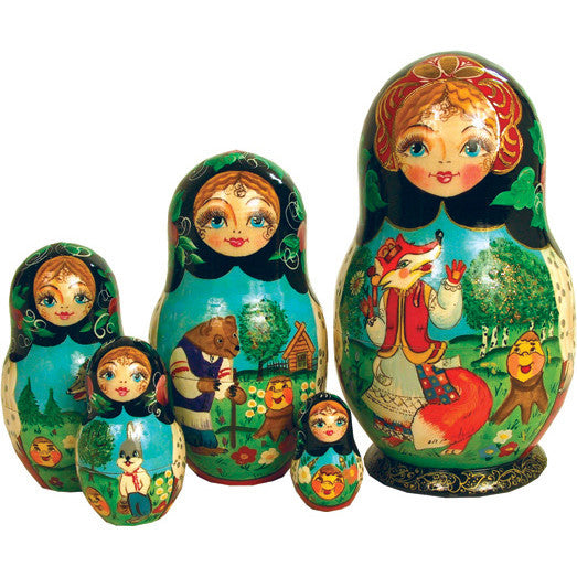Ginger Bread Russian Nesting Dolls - Fairy Tale
