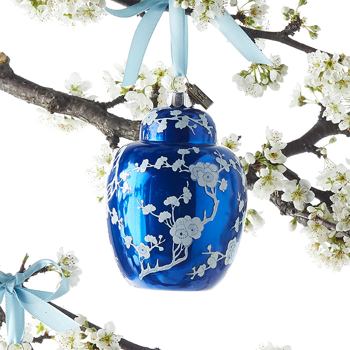 Blue Ginger Jar Ornament