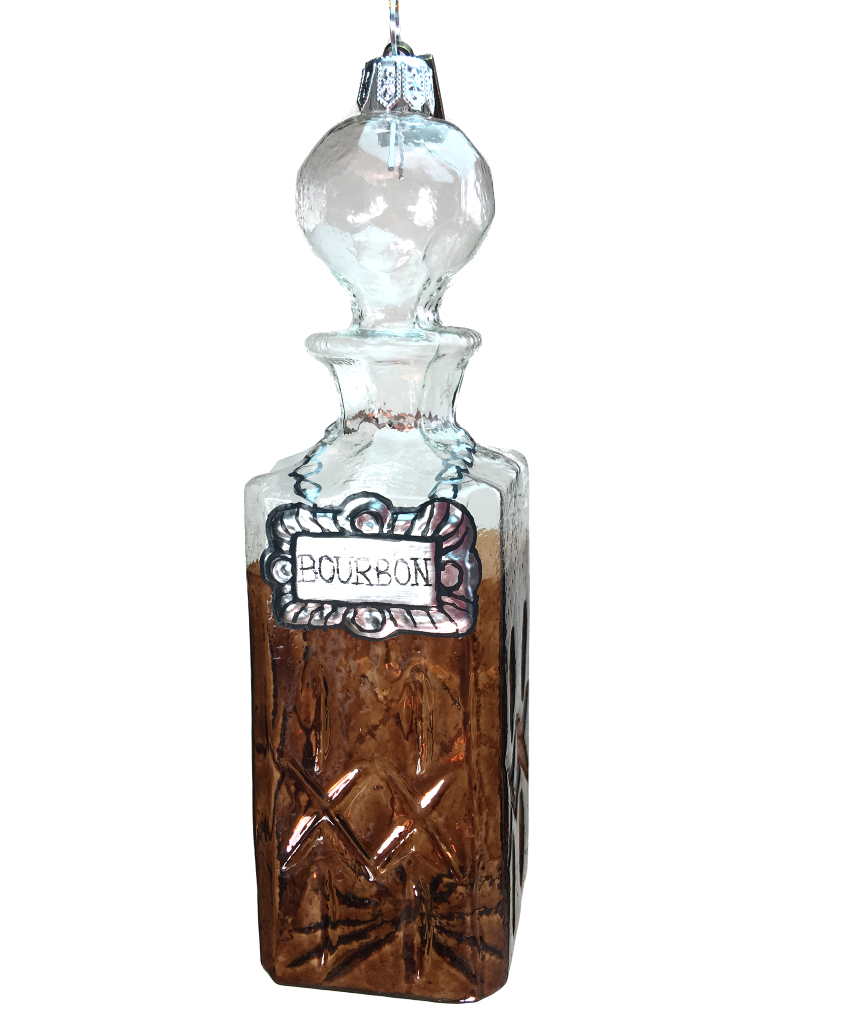 Eric Cortina Bourbon Decanter Glass Ornament