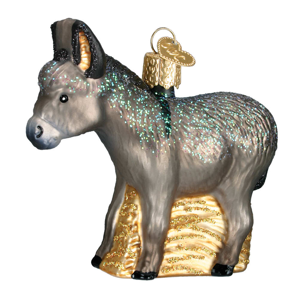 Old World Christmas Donkey Ornament - Nativity