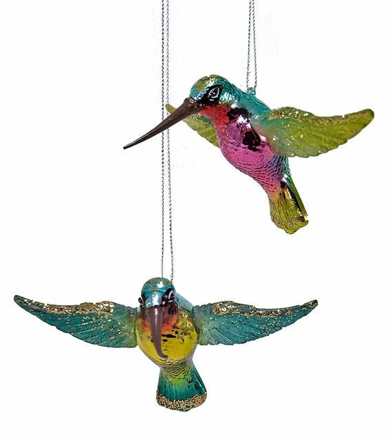 glass hummingbird ornaments