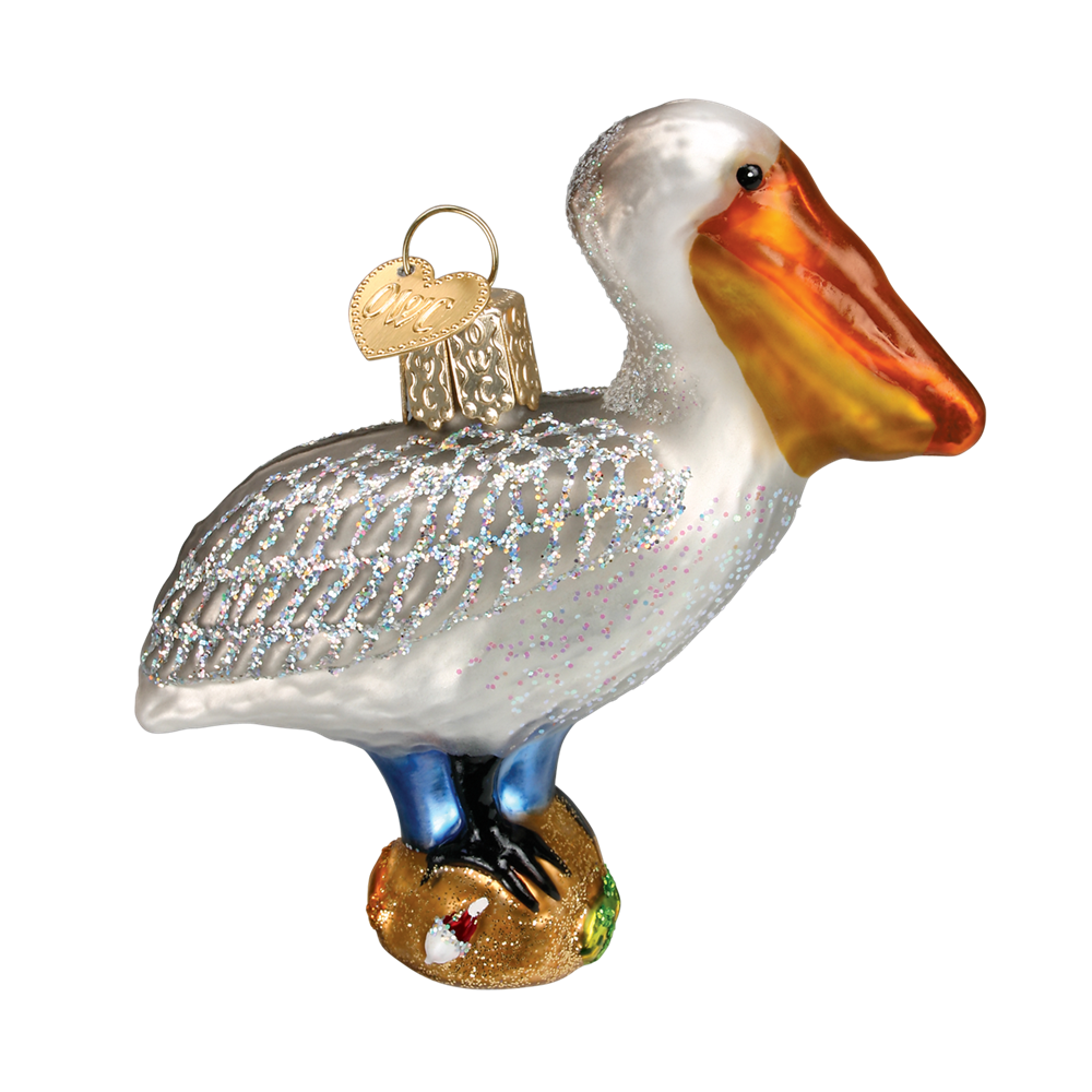 Pelican Ornament - Glass Christmas Tree Ornaments