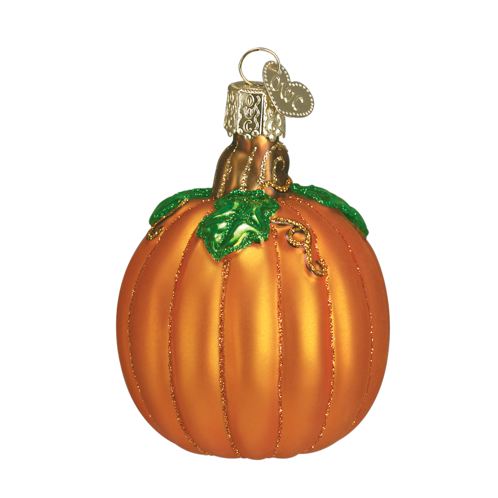 Glass Pumpkin Ornament for Halloween & Thanksgiving