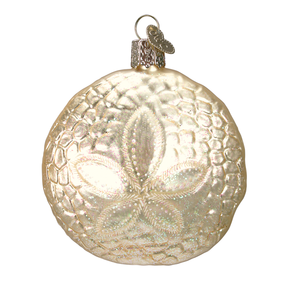 Glass Sand Dollar Ornament