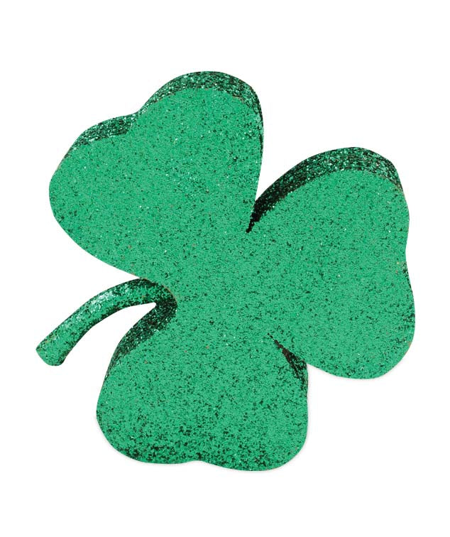 Glittered Shamrock, 3 Leaf Clover