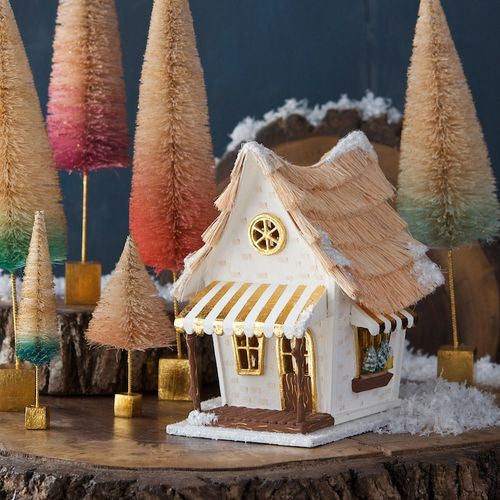 Glitterville Whimsical Cottage - Cream