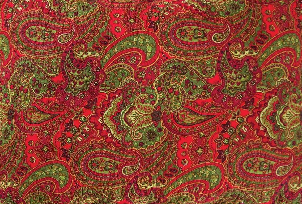 Gloria Quilt Christmas Paisley Pattern