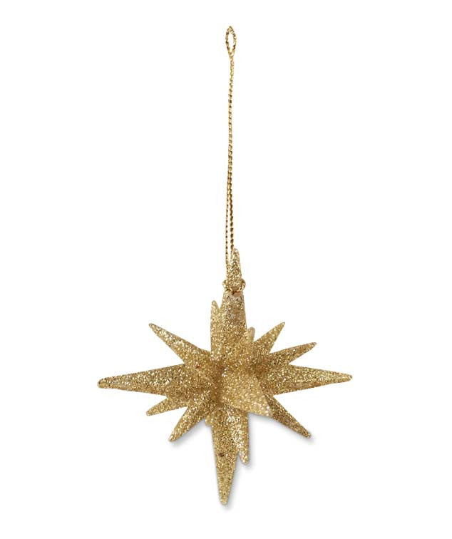 Gold Moravian Star Ornaments