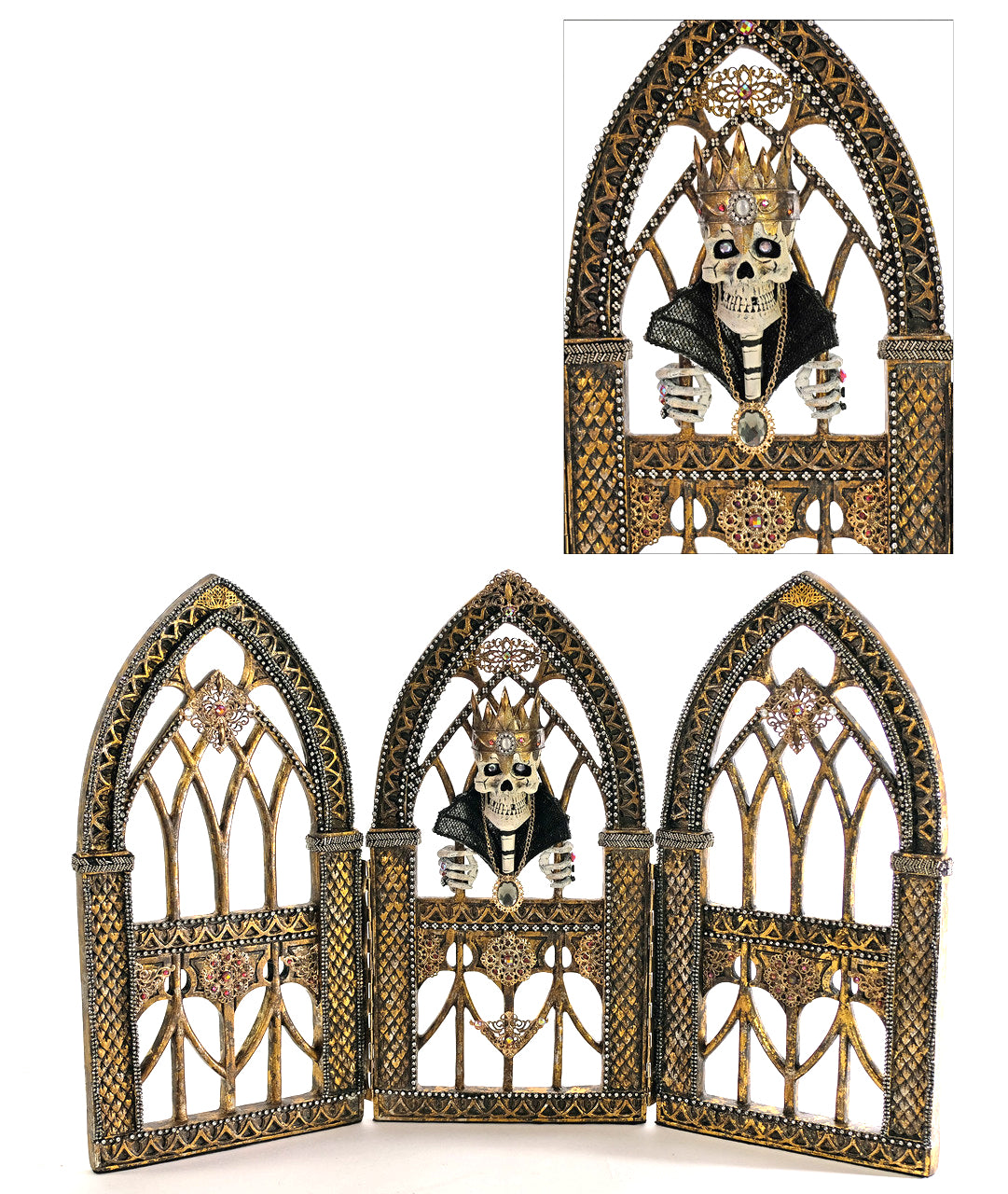 Katherine's Collection Gothic Skeleton Tabletop Triptych