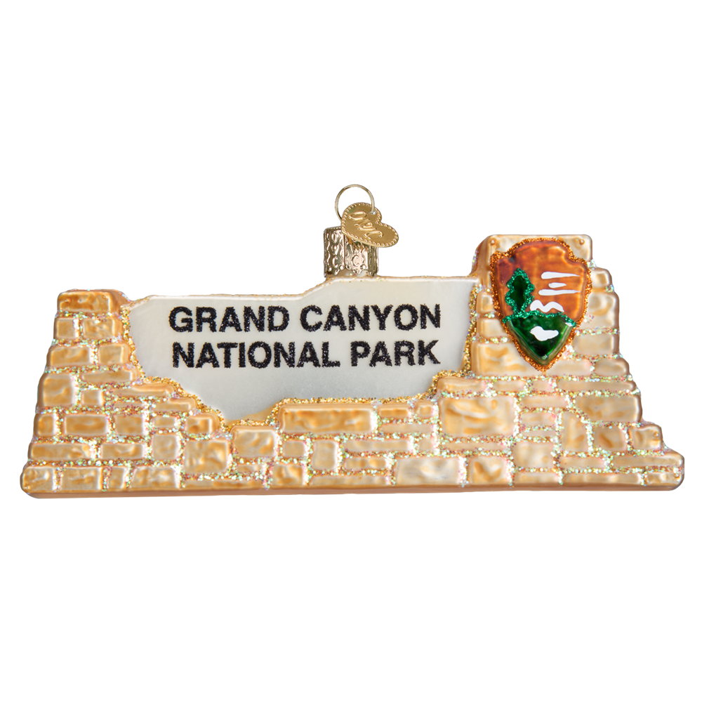 Glass Grand Canyon Sign Ornament by Old World Christmas