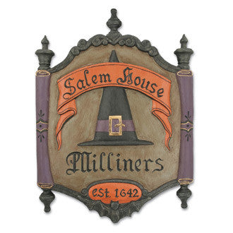 Salem House Milliners Trade Sign