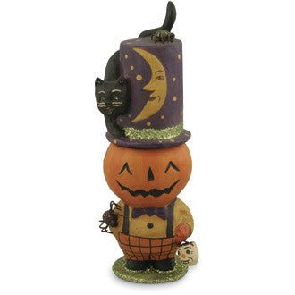 Pumpkin Pete Halloween Candy Container