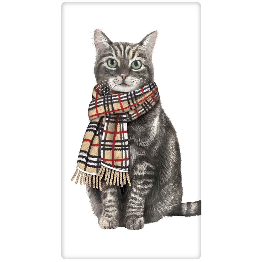 Grey Tiger Cat With Burberry Scarf