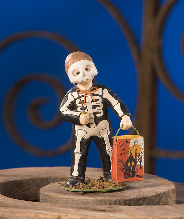 Grim Skeleton Boy Figurine