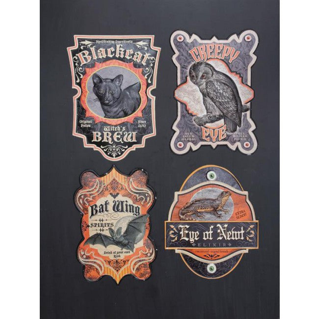 Apothecary Halloween Signs - Embossed Tin