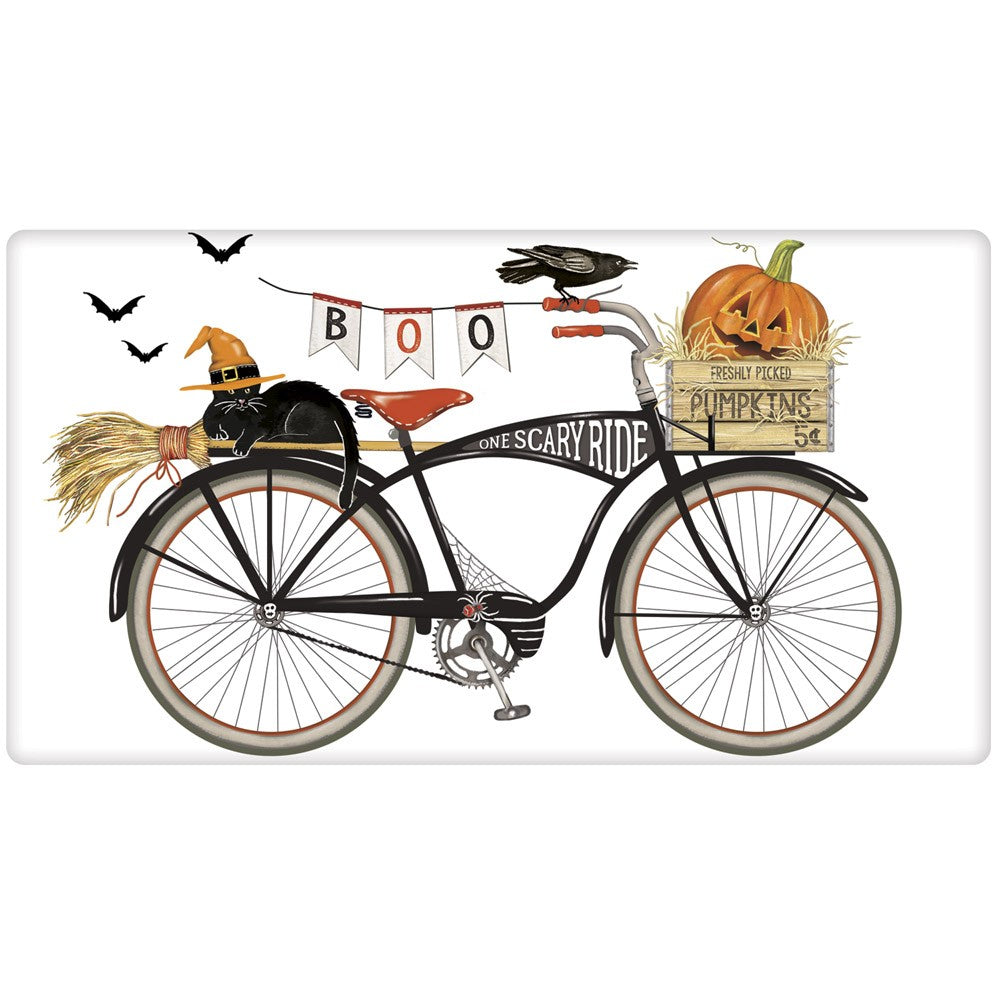 Halloween Bike Towel with Witch Cat - One Scary Ride