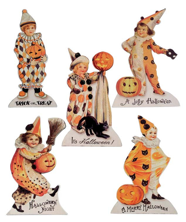 Bethany Lowe Halloween Children Dummy Boards with Vintage Images