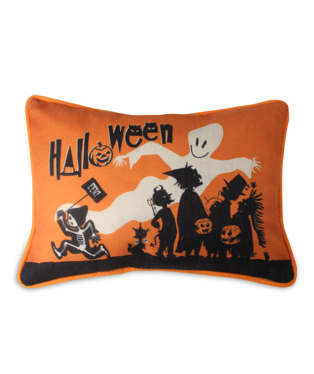 Halloween Eek Pillow with Saturday Evening Post Silhouette
