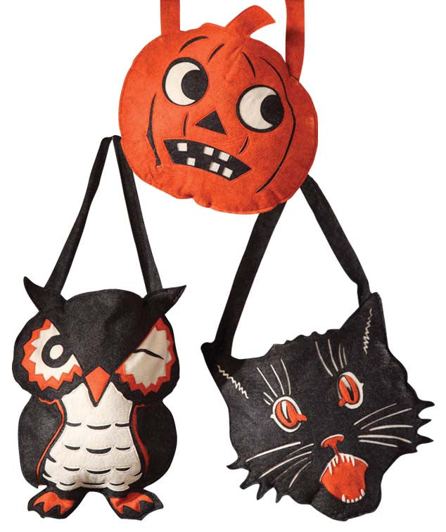 Halloween Felt Trick or Treat Bags - Bethany Lowe