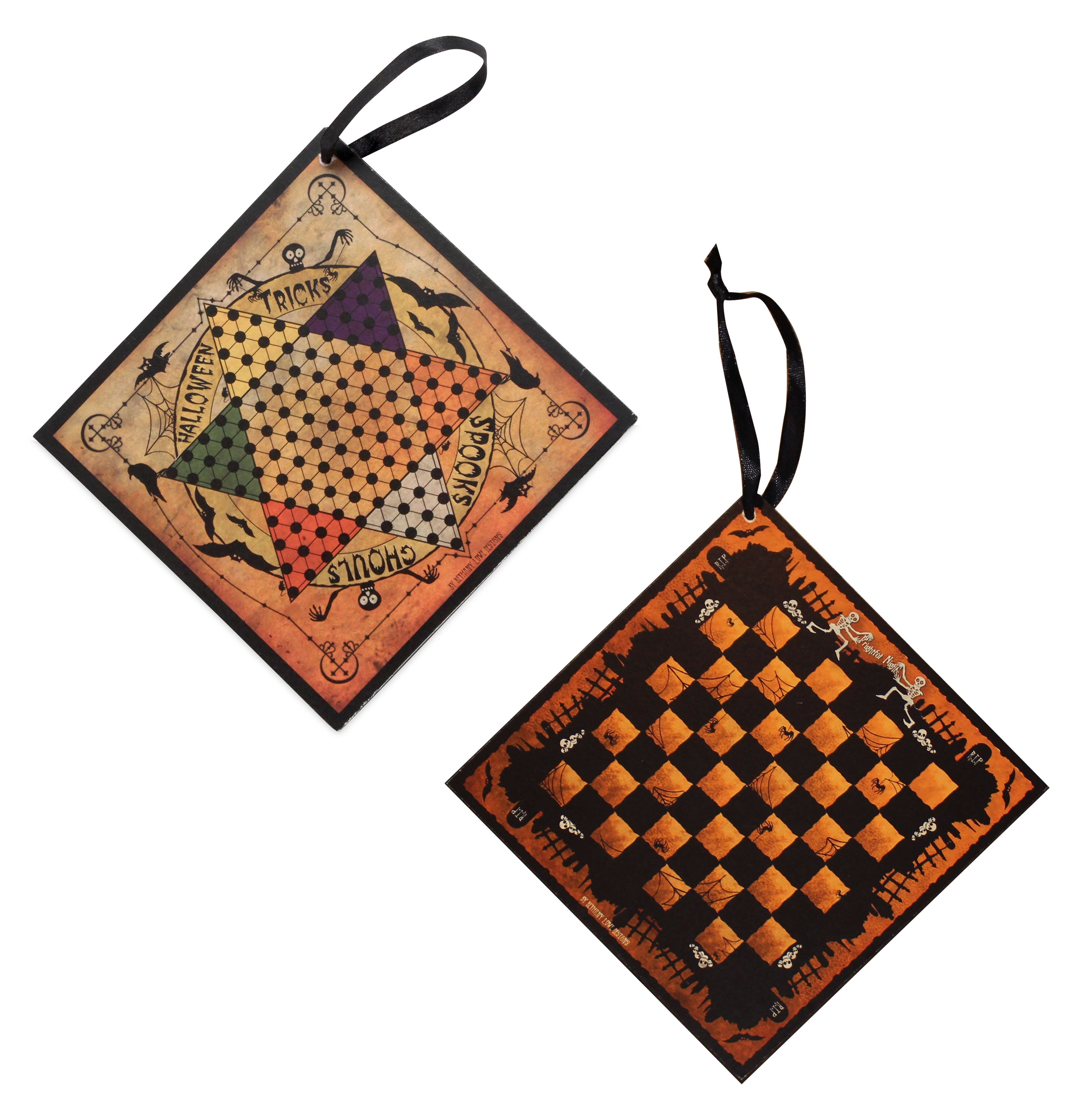 Halloween Gameboard Ornaments by Bethany Lowe
