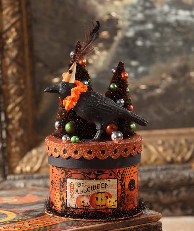 Bethany Lowe Party Crow Halloween Box