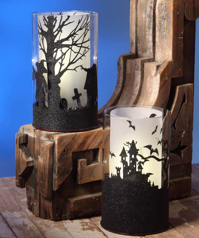Halloween Silhouette Locomotion Lanterns by Bethany Lowe