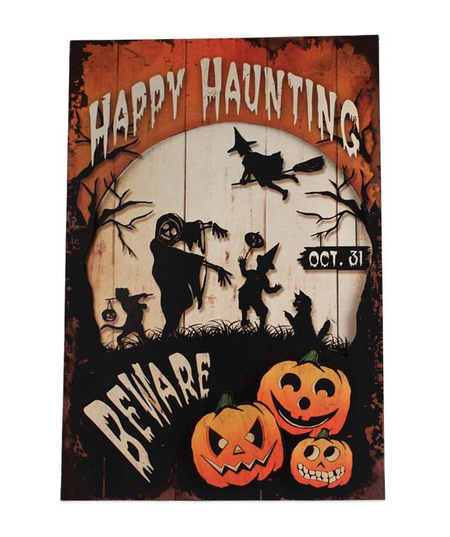 Bethany Lowe Happy Halloween Tin Sign 2017