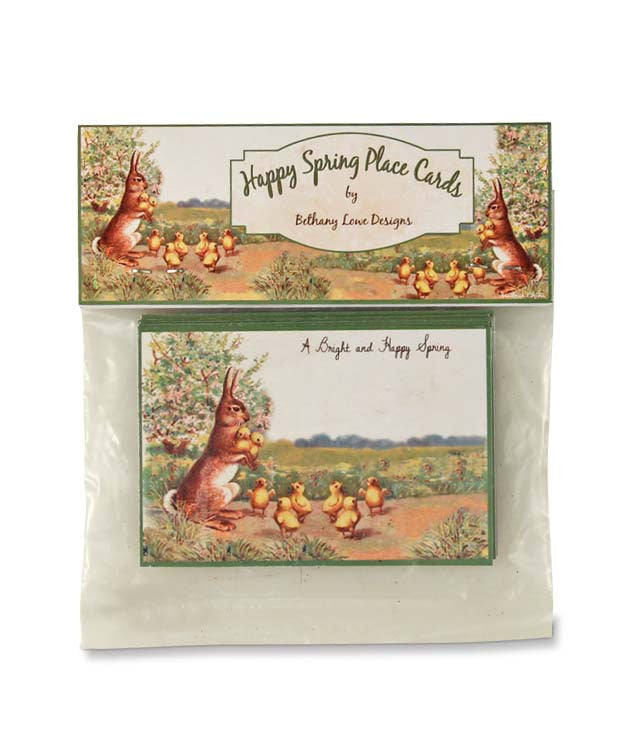 Happy Spring Place Cards