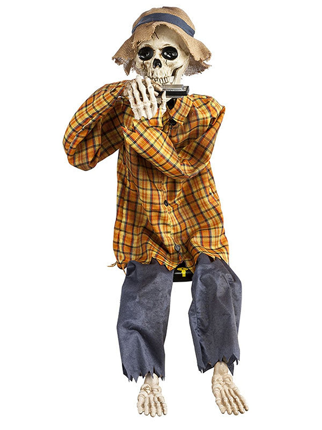 Harmonica Playing Skeleton - Animated Halloween Prop
