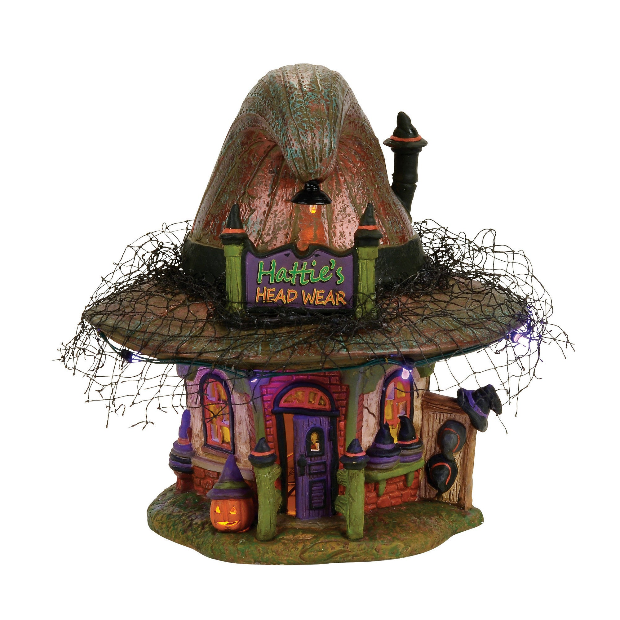 Hattie's Witch Hat Shop Dept 56 Halloween Village