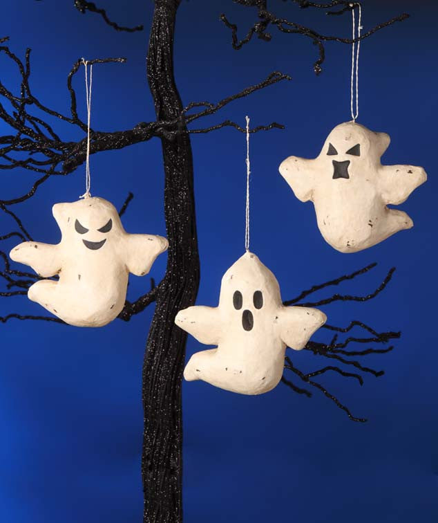 Bethany Lowe Haunted Ghost Ornaments made from Paper Mache