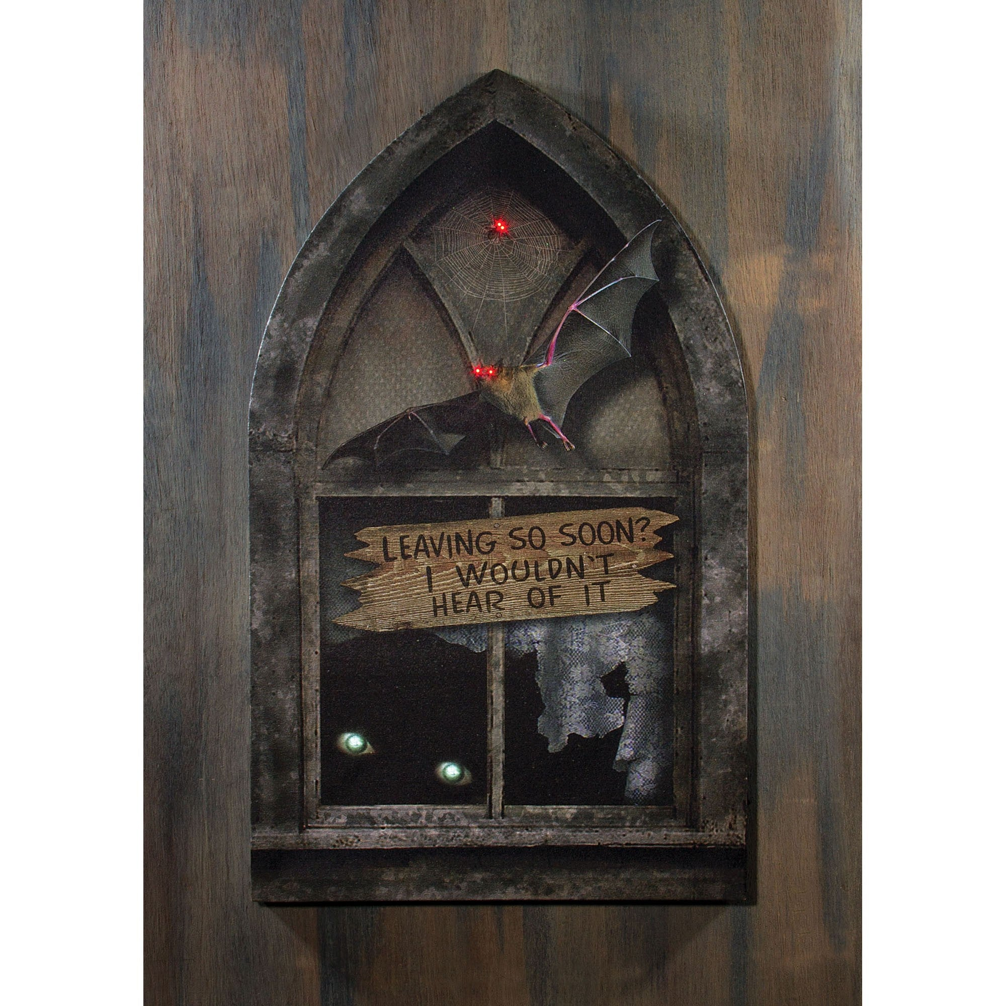 Haunted House Gothic Window Lighted Canvas